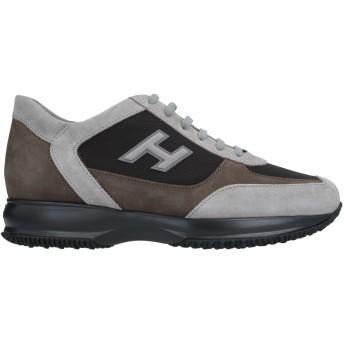 《セール開催中》HOGAN メンズ スニーカー&テニスシューズ(ローカット) ライトグレー 11 革 / 紡績繊維