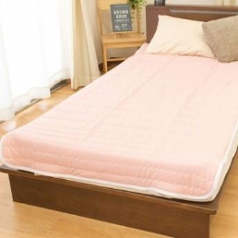 東京西川 敷きパッド シングル 洗える オールシーズンドットピンク 温度調整 ベッドパッド 100×205cm