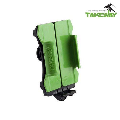 TAKEWAY 專業版運動型手機座(T-PH03) 公司貨-清新綠