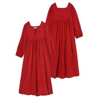 【MILKFED.:ワンピース】SOLID PUFF SLEEVE DRESS