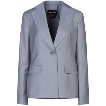 《セール開催中》GIORGIO ARMANI レディース テーラードジャケット グレー 40 スーパー150 ウール 100%