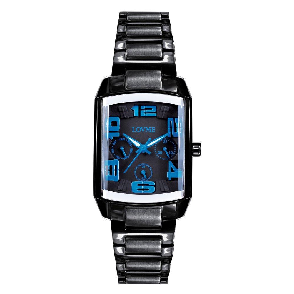 LOVME 魔幻立體空間時尚手錶-IP黑x藍刻度 VS0363L-33-3B2