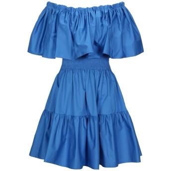 《セール開催中》AINEA レディース ミニワンピース&ドレス ブライトブルー 42 コットン 100%