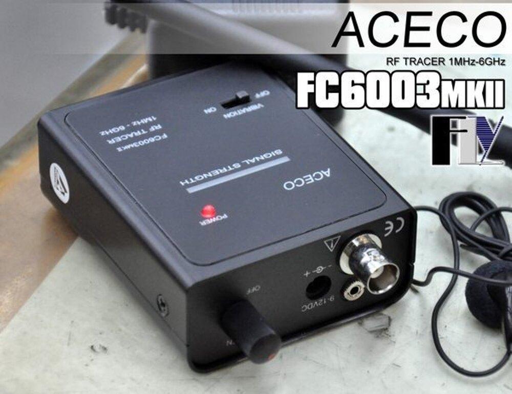 《飛翔無線》ACECO FC6003MKII 掌上型頻率追蹤器 防偷拍 反針孔 測竊聽〔 1MHz~6GHz BNC公頭 〕