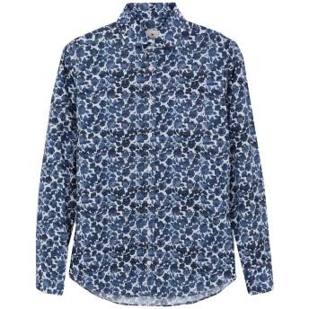 《セール開催中》BASTONCINO メンズ シャツ ブルー 39 コットン 100%