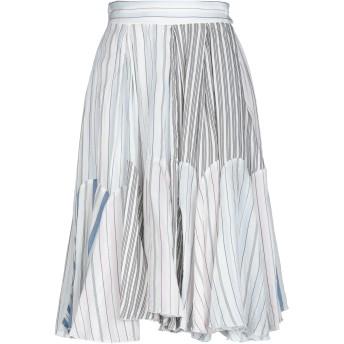 《セール開催中》JW ANDERSON レディース 7分丈スカート ホワイト 12 コットン 100%