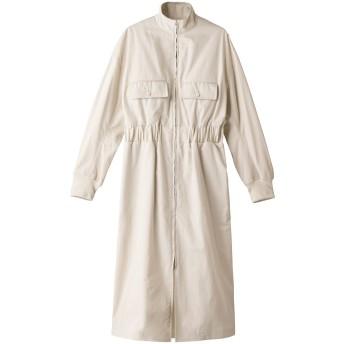 LOEFF ロエフ ギザコットンMA1ドレス ホワイト