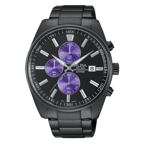 ALBA 紫岩魔幻計時簡約時尚腕錶-43mm(VD57-X059SD/AM3247X1)