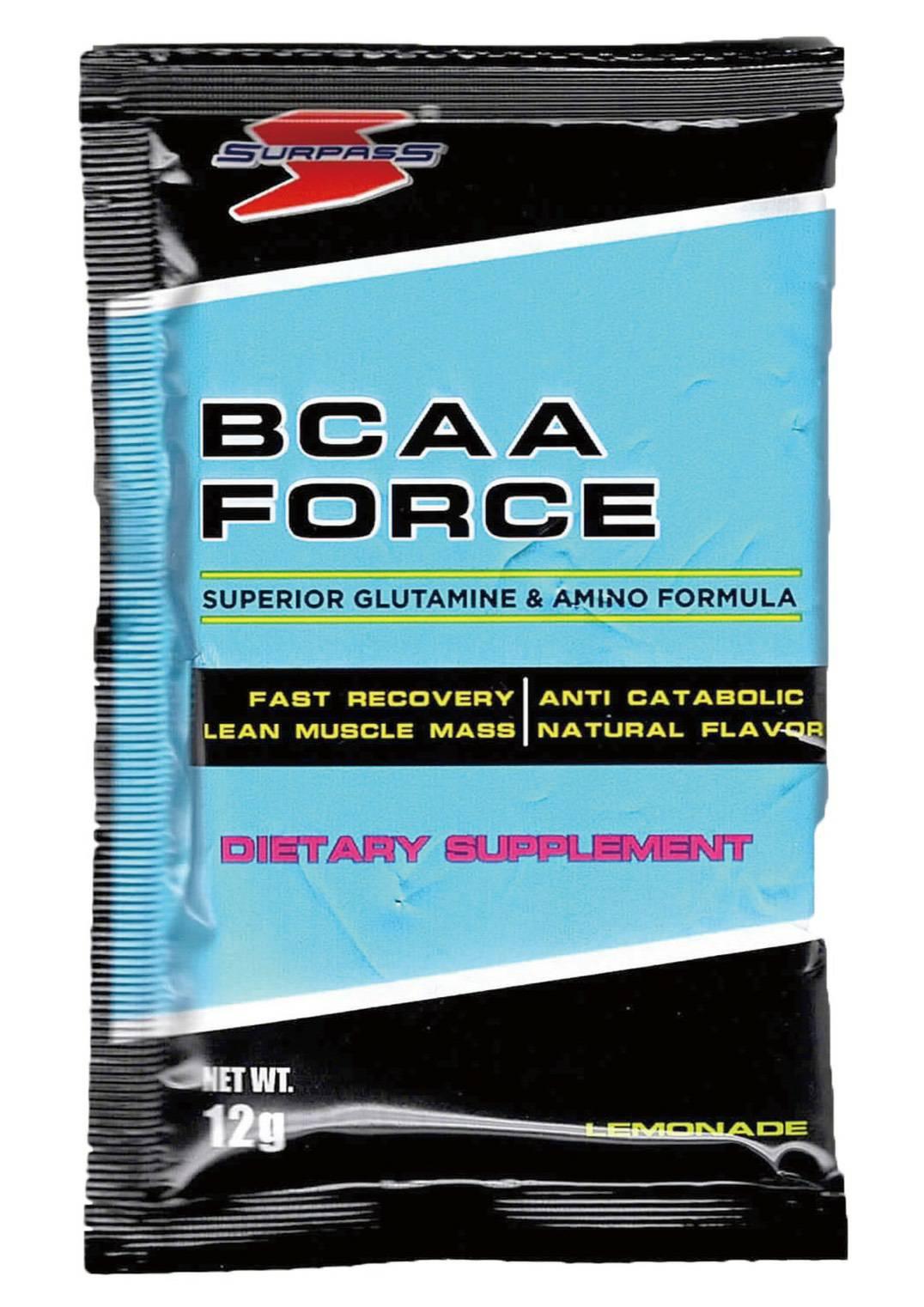 [美國 SURPASS] 支鏈胺基酸BCAA FORCE 檸檬口味(12g/包)