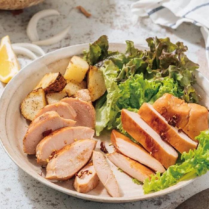 [台畜] 鮮嫩即食雞胸肉48包組 (160G/片) 青檸紅藜*24+ 清香麻油*24