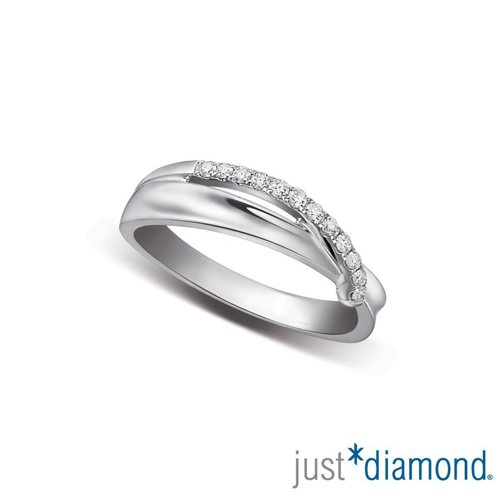 【Just Diamond】18K金鑽石戒指 愛戀情迷 對戒(女戒)