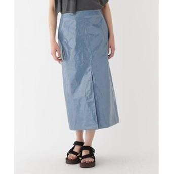 【DRESSTERIOR:スカート】◆AURALEE(オーラリー)リネンエナメル ラミネートスカート