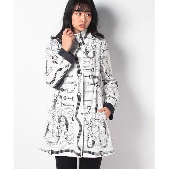 <LA JOCONDE> 高密度タフタ パネルプリント コート ネービー(15)【三越・伊勢丹/公式】