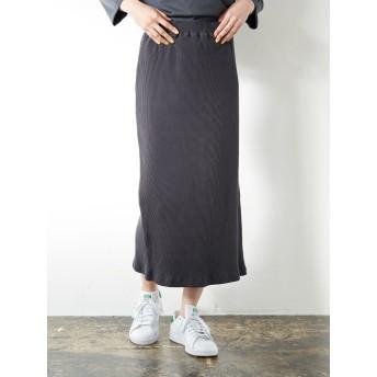 【6,000円(税込)以上のお買物で全国送料無料。】リブタイトロングスカート