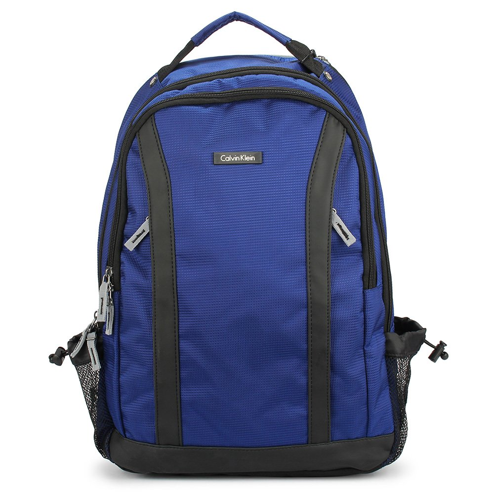 Calvin Klein 簡約素面時尚後背包-藍色 103333-1
