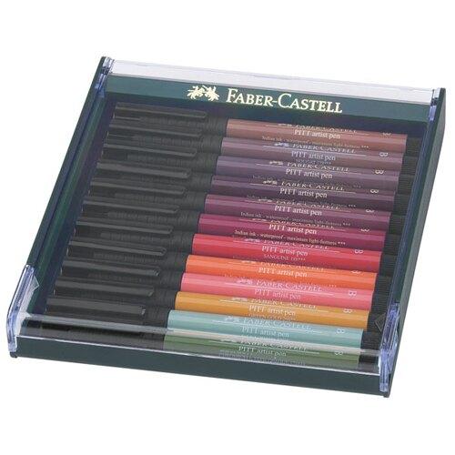 【FABER-CASTELL】輝柏 PITT 藝術筆12色 鄉土色系 / 盒 267422