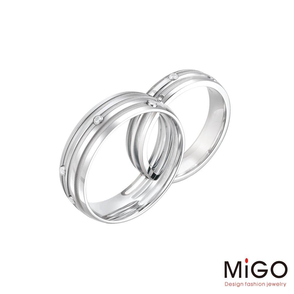 MiGO 結合白鋼成對戒指