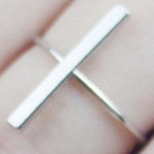 【米蘭精品】925純銀戒指銀飾-一字造型生日情人節禮物女配件73ae53