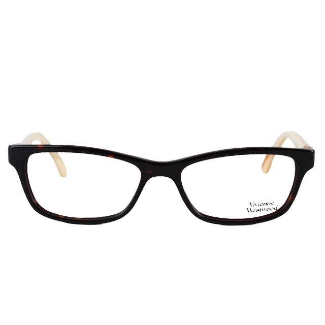 【Vivienne Westwood】英倫薇薇安魏斯伍德時尚龐克風光學眼鏡(黑/黃) VW290-02