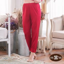【岱妮蠶絲】6C60202純蠶絲單面平紋小蕾絲衛生褲-紅(BWCAAA20)
