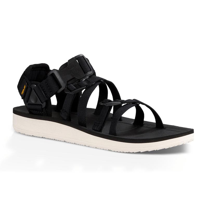 原創風格 羅馬織帶款運動機能涼鞋 W Alp Premier-黑/女款 US9