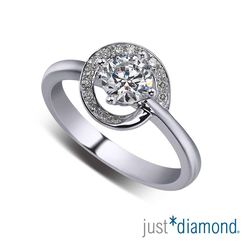 【Just Diamond】GIA 0.54克拉 18K金鑽石戒指 蔓舞
