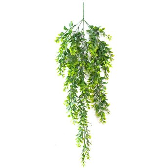 Asien 造花グリーン 人工観葉植物 フェイクグリーン 造花藤 緑 葉 壁掛け 吊りのインテリア飾り人工植物 枯れないグリーン