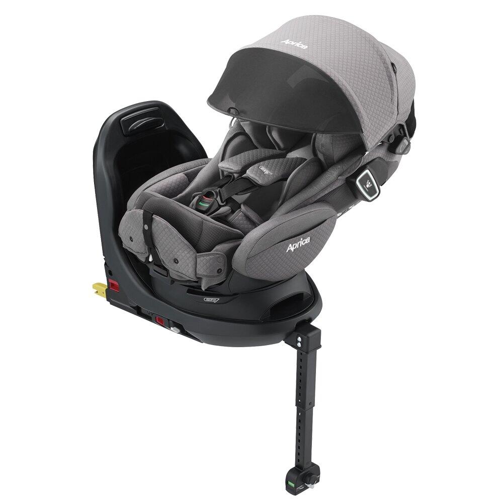 【Aprica 愛普力卡】Fladea grow ISOFIX All-around Safety Premium 0-4歲平躺型安全汽車座椅-花月雪/沁星河