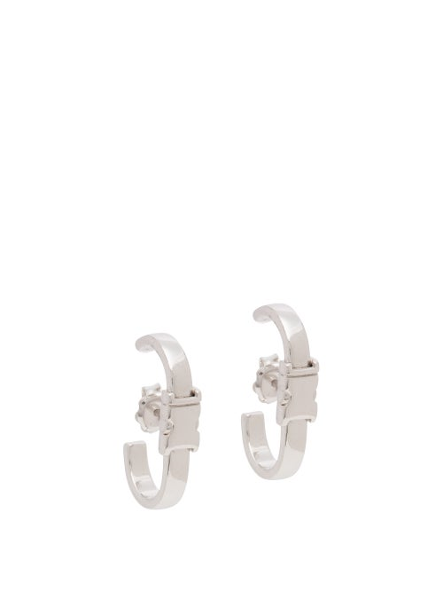 Alan Crocetti - Unity Rhodium-plated Sterling-silver Earrings - Mens - Silver