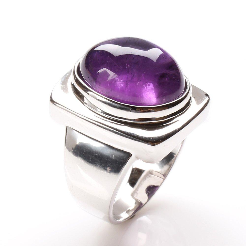 【雅紅珠寶】天然紫水晶戒指-925銀飾-金印紫授