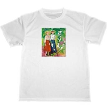 エドヴァルド・ムンク 花咲くリンゴの木の下の二人の少女 ドライ Tシャツ 名画 アート グッズ