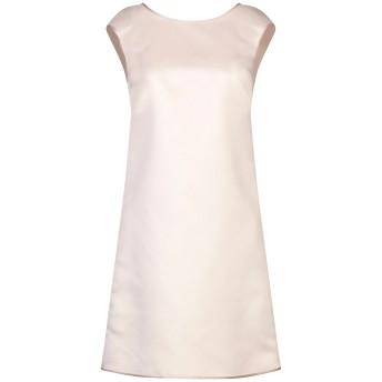 《セール開催中》LANACAPRINA レディース ミニワンピース&ドレス ベージュ 46 ポリエステル 80% / コットン 20%