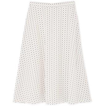 【公式/NATURAL BEAUTY BASIC】キカドットフレアスカート/女性/スカート/オフベース/サイズ:XS/(表生地)ポリエステル 100%(裏生地)ポリエステル 100%