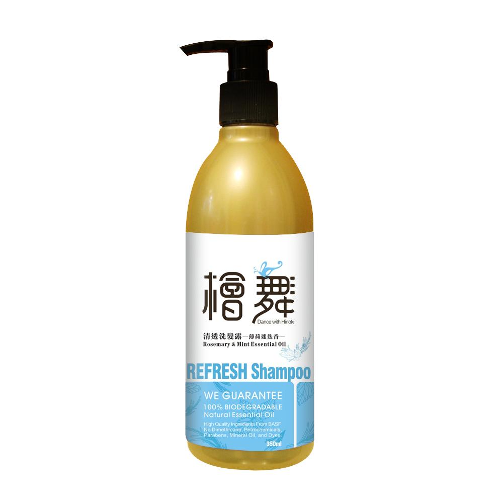 [清檜] 檜舞 清透洗髮露-薄荷迷迭香 (350ml/瓶)