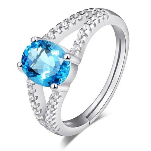 【米蘭精品】925純銀戒指水晶銀飾-優雅母親節生日情人節禮物女配件73af1