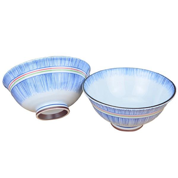 【堯峰陶瓷】日本美濃燒 彩虹十草 日大平碗 圓缽/碗 線條紋