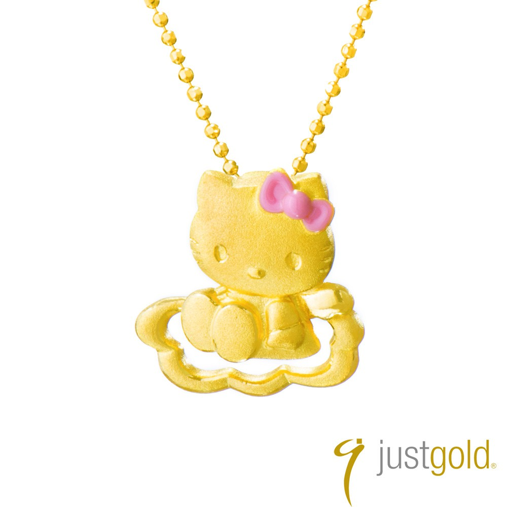 【Just Gold 鎮金店】Hello Kitty純金系列 戀愛物語-黃金墜子