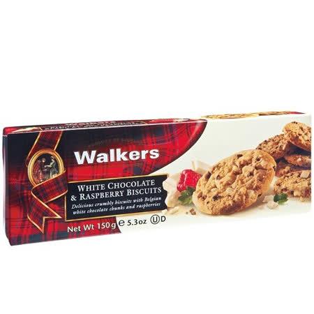 【WALKERS】蘇格蘭皇家白巧克力覆盆子餅乾 150G