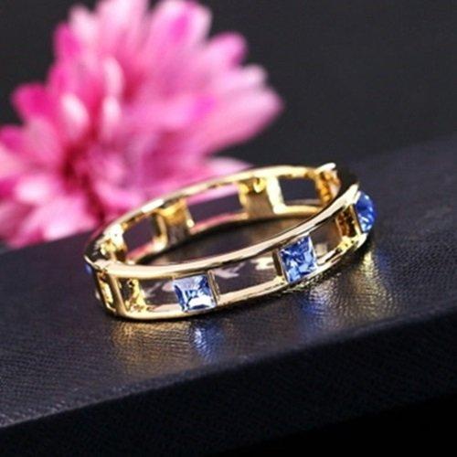 【米蘭精品】玫瑰金手環鑲鑽純銀手鍊(簡約精緻七夕情人節生日禮物女飾品8色73ak89)