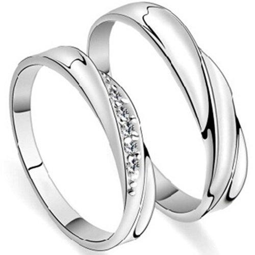 【米蘭精品】925純銀戒指鑲鑽銀飾-水波造型甜蜜生日情人節禮物男女配件(單個)73ae121