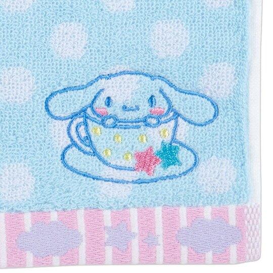 小禮堂 大耳狗 純棉無捻紗小方巾《藍.點點紋》20x20cm.手帕.毛巾