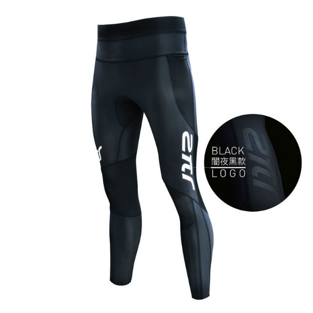 [2PIR] 男款3D立體支撐壓力褲闇夜黑 M