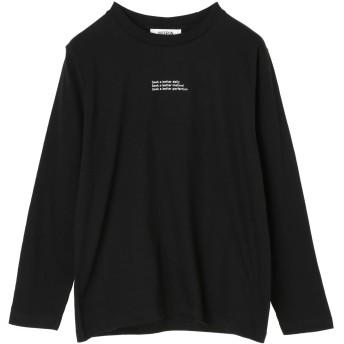 【6,000円(税込)以上のお買物で全国送料無料。】チビロゴ刺繍ロングTシャツ