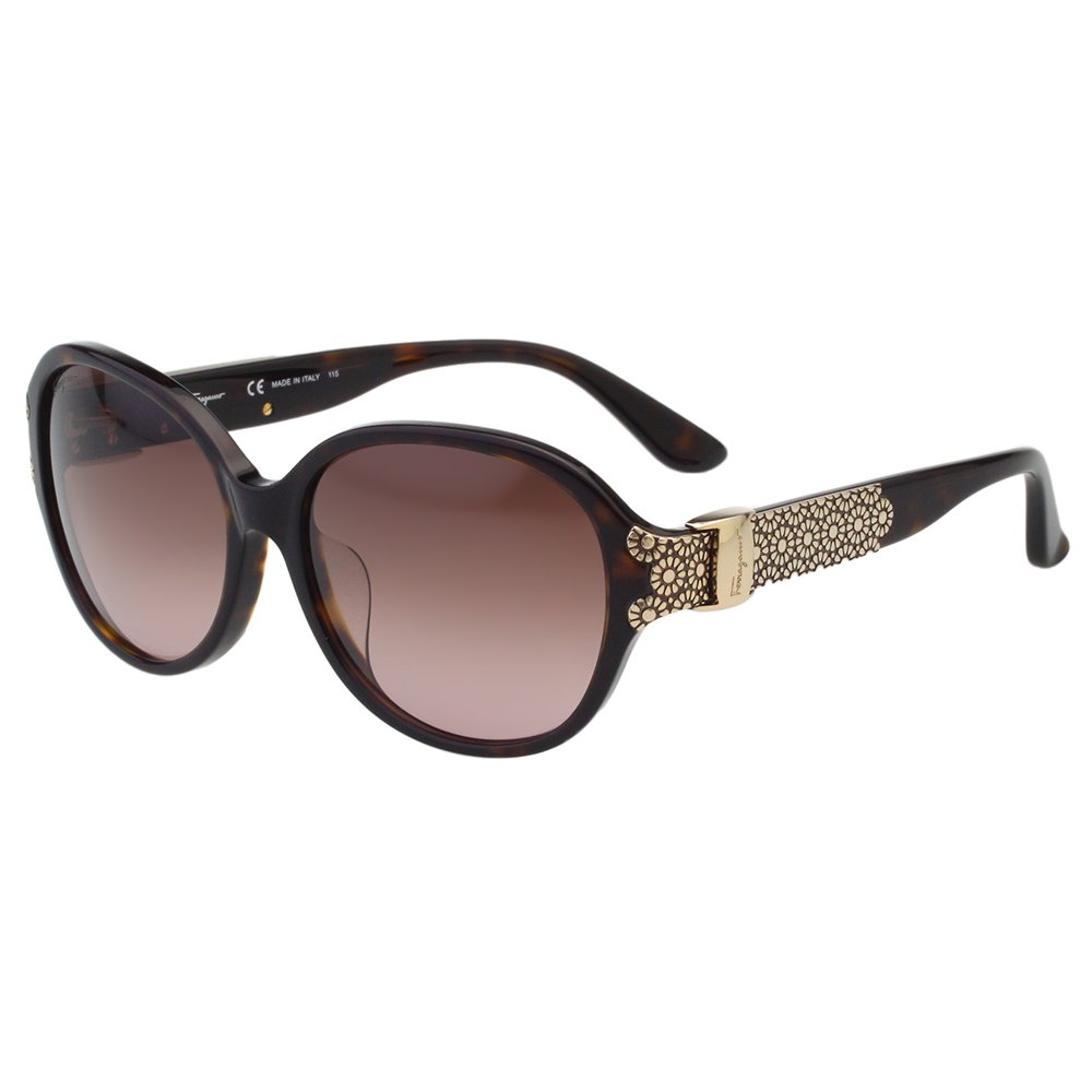 Salvatore Ferragamo- 時尚優雅太陽眼鏡(琥珀色)SF742SA
