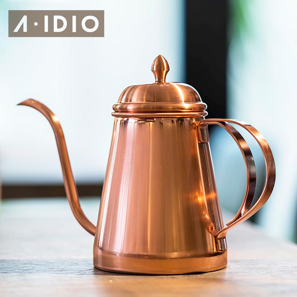 [ A-IDIO ] 咖啡手沖壺600ml -玫瑰金