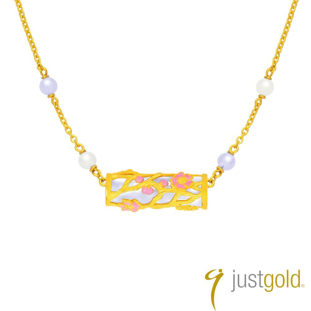 【Just Gold 鎮金店】喜‧玲瓏純金系列 黃金項鍊