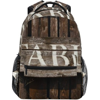 GUKISALA リュックサック、牧場の西部で安定した素朴なサイン、バックパック 男女兼用 アウトドア旅行バッグ オシャレ 可愛い 通勤 通学用 軽量 高校生