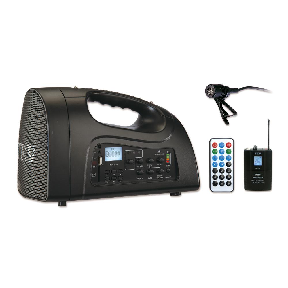 台灣電音TEV 肩帶式USB SD播放擴音器 領夾式 TA220ULL