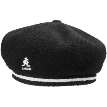 KANGOL カンゴール 2-Tone Bermuda Beret BLACK GRAPE DUSTYROSE ベレー帽 メンズ レディース (XLサイズ, BLACK)