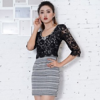 キャバ ドレス セール ミニ  ミニドレス セール目玉商品 数量限定 安い 激安 可愛い 送料無料 ツイードレースミニドレス